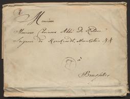 """Précurseur - Grand LAC Datée De Battice (1790) Vers Bruxelles + Cachet Rond """"B"""" - 1789-1790 (Brabant Revolution)"""