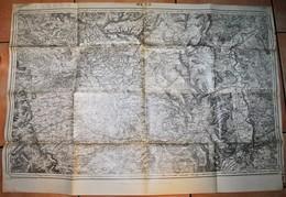 Rare Carte état Major Région De Metz 100% Originale Type 1835 Révisée En 1912 - 1914-18