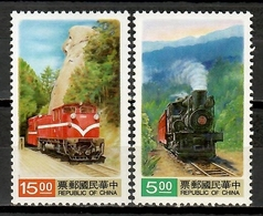 China Taiwan 1992 / Railways Trains MNH Trenes Züge / Cu10605  4 - Trenes