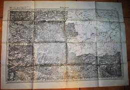 Rare Carte état Major Région De Rocroi 100% Originale Type 1832 Révisée En 1913 - 1914-18