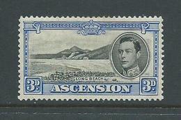 Ascension 1938 KGVI Definitives 3d Ultra Beach Mint - Ascension