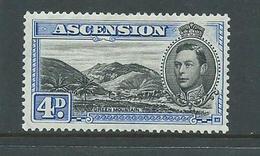 Ascension 1938 KGVI Definitives 4d Blue Mountain Perf 13.5 Fine Mint - Ascension