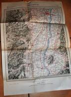 Rare Carte état Major Région De Strasbourg 100% Originale Type 1883 Révisée En 1884 - Cartes Topographiques