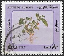 KUWAIT 1983 Desert Plants - 80f - Violet (red Berries) FU - Kuwait