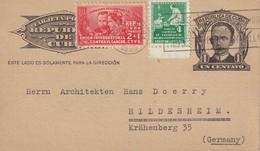 CUBA 1938   ENTIER POSTAL/GANZSACHE/POSTAL STATIONERY CARTE DE LA HAVANE - Cuba