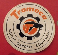Autocollant Tromeca. Motor  Garden Equipment. Vers 1960-70. - Autocollants