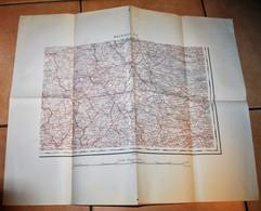Rare Carte état Major Région De Mayence SE 100 % Originale 19 ème Début 20 ème Siècle - Cartes Topographiques