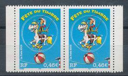3546a** Fête Du Timbre En Paire (émis En Carnet) - France