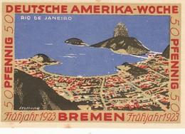 Billet Allemand - 50 Pfennig - Bremen 1923 - Deutsche Amerika Woche - [11] Emissions Locales