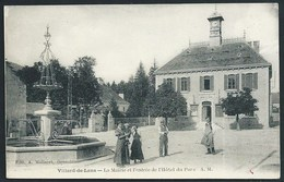 38 VILLARD- DE- LANS (ISERE )   ANIMEE...MAIRIE..FONTAINE..HORLOGE...C3010 - Villard-de-Lans