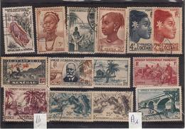 Thematiques Lots De 14 Timbres Afrique Occidentale Française Ou Autres à Découvrir - Autres - Afrique