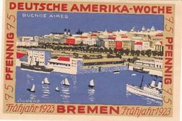 Billet Allemand - 75 Pfennig - Bremen 1923 - Deutsche Amerika Woche - [11] Emissions Locales