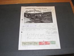 GOE DOLHAIN - BOIS ET SCIERIE MECANIQUE - MATHIEU PEUTAT - FACTURE DU 31/3/1927 - 1900 – 1949