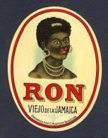 Etiquette De Liqueur: Rhum Viejo De Jamaica. Decoupee (9 X 12 Cms) (Ref.65523) - Rhum