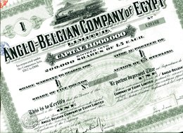 ANGLO=BELGIAN COMPANY Of EGYPT - Afrique