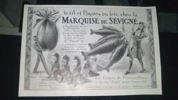 Affiche - Publicité -  Avril Et PAQUES En Fête Chez La MARQUISE De SEVIGNE............ - Publicités