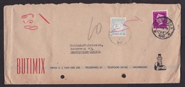 Netherlands: Cover, 1947, 1 Stamp + 1 Postage Due Stamp, Taxed, 10 Cents To Pay (damaged, See Scan) - Brieven En Documenten