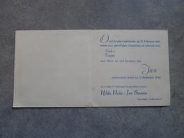 Poperinge. Geboortekaartje Jan Sansen (1945) - Naissance & Baptême