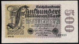 P110e Ro109f 100 Million Mark 01-09-1923. AUNC ,1 Plis De Liasse - [ 3] 1918-1933: Weimarrepubliek