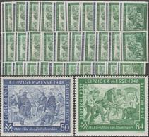 Occupation Interalliée 1948 Y&T 55 & 56 Michel 967 & 968. Foire De Leipzig, 30 Séries Neuves Sans Charnières Y&T 36 € - Zone AAS