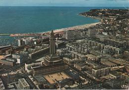 LE HAVRE EN AVION SUR LA PORTE OCEANE PLI MARQUE EN HAUT COIN DROIT - Le Havre