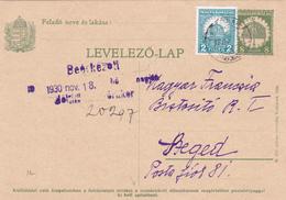 E.P. Magyar/ Hongrie - Levelező-Lap - 1930 - Ecrit Et Oblitéré - Postal Stationery