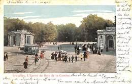 Bruxelles - L'Entrée Du Bois De La Cambre (tram Tramway Cheval 1903) - Transport Urbain En Surface