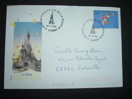 LETTRE Illustrée EURO DYSNEY TP NIKI DE SAINT PHALLE 2,50 OBL.25 IV 1993 77 CHESSY POINT PHILATELIE DE LA POSTE - Postmark Collection (Covers)