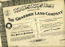 The GHARBIEH LAND COMPANY; Une Part De Fondateur - Africa