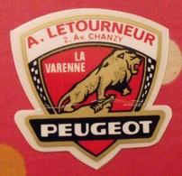 Autocollant Peugeot . A. Letourneur. La Varenne. Vers 1960-1970. - Stickers