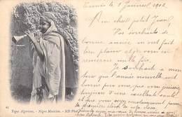 Afrique Algérie (Scènes & Types) Types Algériens Négro Musicien  ( CPA DOS SIMPLE Année - 1902 - ND Phot 67)*PRIX FIXE - Scènes & Types