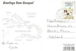 Netherlands Antilles 2007 Curacao Papillon Dog Viewcard - Curaçao, Nederlandse Antillen, Aruba