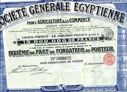 SOCIÉTÉ GÉNÉRALE ÉGYPTIENNE - Afrique