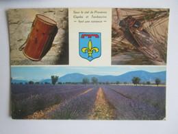 Les Belles Images De Provence. Tambourin. Cigale. Champ De Lavande. GAL 4103 Postmarked 1978 - Provence-Alpes-Côte D'Azur