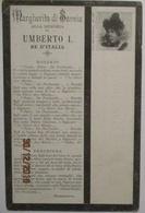 Italien, Adel, Margherita Di Savoia, Trauerkarte Tod König Umberto (12702) - Weltkrieg 1914-18