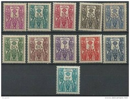 "Cameroun Taxe YT 14 à 24 "" Série Complète + 24 "" 1939-44 Neuf**/* - Kameroen (1915-1959)"