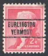 "USA Precancel Vorausentwertung Preo, Locals ""BURLINGTON"" (Vermont). - Stati Uniti"