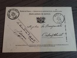 Burgemeester Calmpthout(Kalmthout),Landmeter Kadaster Moll(Mol),1897.van Oevelen,Bernaerts,Aerden,Van Tichelt. - Mol