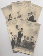 LOT 5 CPA - Série De 5 Cartes - LES COMMANDEMENTS DU MARI - Famille - 1904 - Bébé - Fantaisies