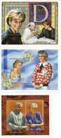 LADY DIANA 3 Blocs Feuillets SUPERBE - Royalties, Royals