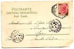 Cpa De Schladming Autriche à Lure France Avec Cachet Paris Etranger 1904 - Marcophilie (Lettres)