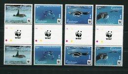 "WWF - Rarotonga - Mi.Nr. 50 / 53 Gutter Pair - ""Riffmanta"" ** / MNH (aus Dem Jahr 2016) - W.W.F."