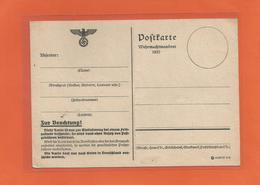 Ganzsache Postkarte Vom Wehrmachtsmanöver 1937 Unbeschrieben - Briefe U. Dokumente