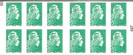 Carnet Yseult Yz   Lettre Verte  La Nouvelle Marianne      RGR-2 - Carnets