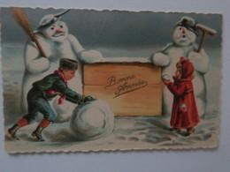 TI  - CARTE ILLUSTRATEUR - Bonne Année - Bonhommes De Neige - Nouvel An