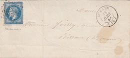 LETTRE. 18 AVRIL 1868. HAUTE-MARNE ST BLIN. GC 3527 POUR POISSONS - Marcophilie (Lettres)