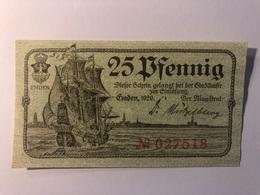 Allemagne Notgeld Emden 25 Pfennig - [ 3] 1918-1933 : République De Weimar