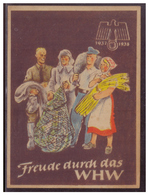 DT- Reich (007442) Propaganda Türblatt, Freude Durch Das WHW 1937/1938 Zweite Wahl!! - Deutschland