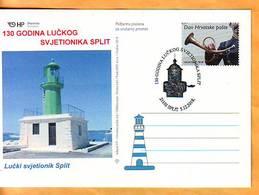 Croatia 2018 Y Postcard Overprint Lighthouses Postmark Split 05.12. - Croatia