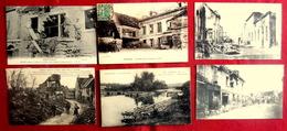 LOT 6 CPA MILITARIA GUERRE 1914-18  : SOUPIR FERE EN TARDENOIS VENIZEL PERNANT COUCY LE CHATEAU CROUY ENVIRONS SOISSONS - France